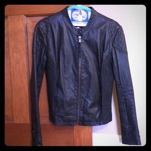 June black leather jacket Size large (women's 6-8)